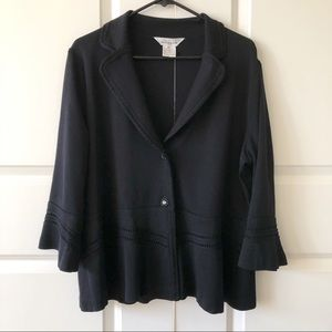 Exclusively Misook Black Knit Cardigan